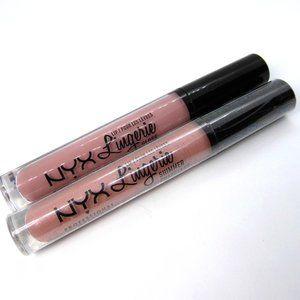 2pc NYX Lingerie Lip Shimmer Spirit & Gloss